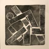 On edge collagraph monoprint
