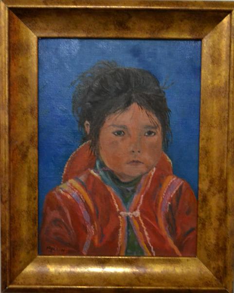 "*Peruvian Child 12""x9 """