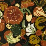 *Gorgeous Gourds. lino-cut, reduction (Limited edition of 8)