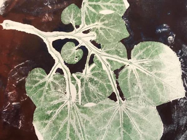 leaf Series: one family (monoprint)