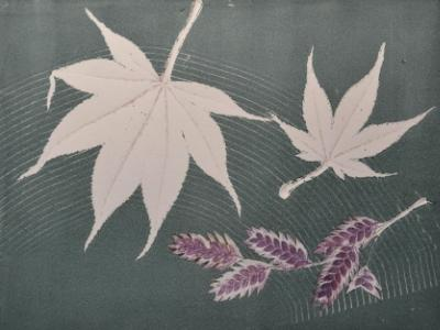 Leaf series: Purple Drifting