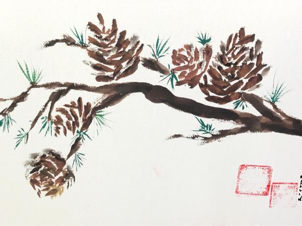 """12x16"""" Pine Cones"""