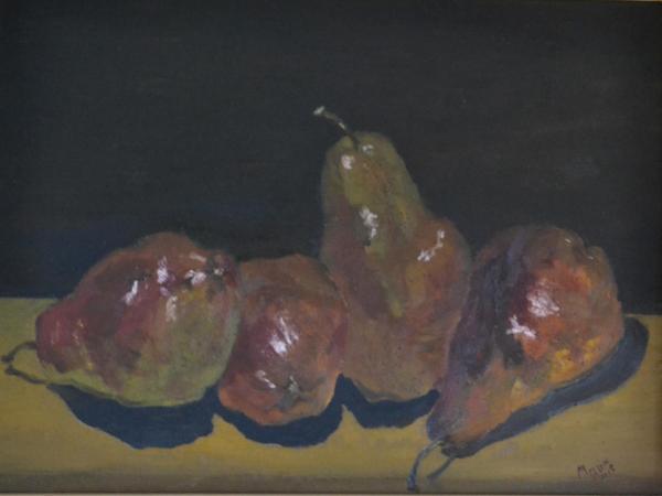 "*Quartet (Red Pears) 12""x16"""