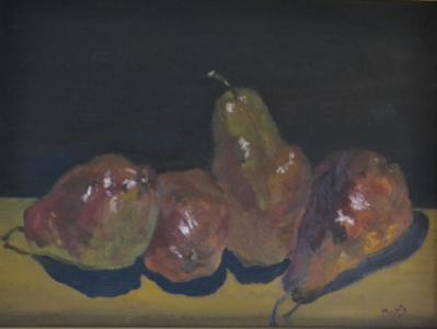 "*Quartet (Red Pears) 12""x16"""
