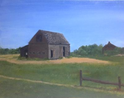 "Martha's Vineyard Barn, 16""x20"""