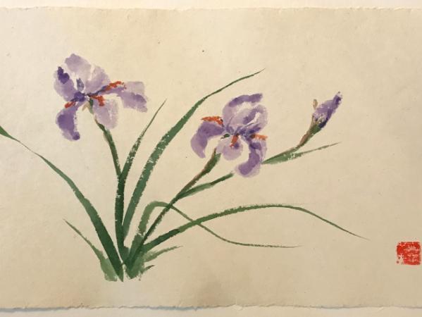 "20x28"" Iris Pair, available through Artfolios.shop"