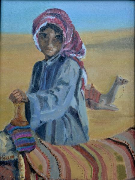"* Our Camel Guide (Bedouin Boy/Egypt) 12""x 9"""