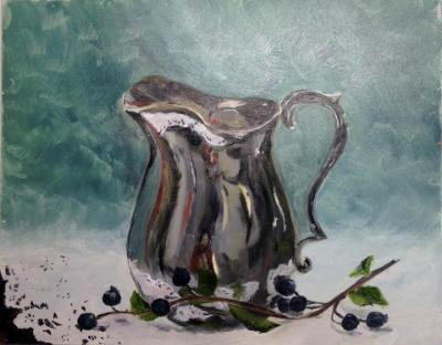 *Self Portrait with Silver Pitcher 8x10""