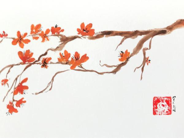 "12x16"" Orange Blossoms"