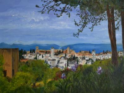 "* Alhambra View 12""x16"""