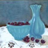 *Celadon and Cherries 12x16