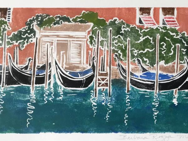 Waiting (gondolas) Venice (Currently available at the DADA Collective Gallery W-S)