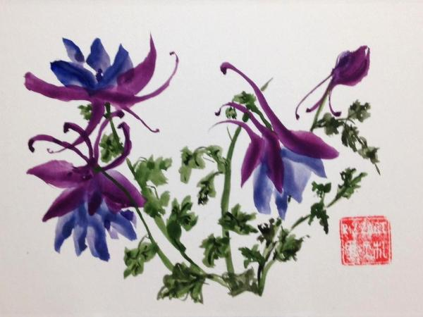 """8x10"""" Columbine, available at W-S Arts Council Gift Shop"""