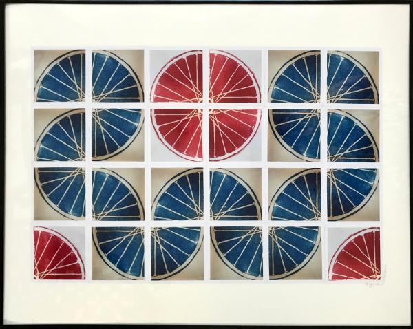 24 Freewheelin' TWENTY FOUR (red/blue 4x6 squares), Benton