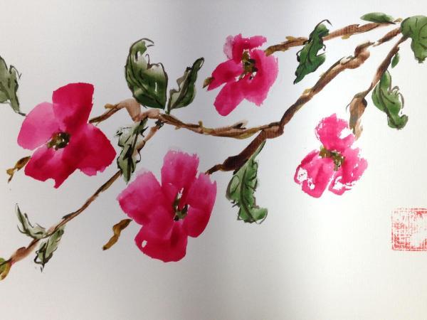 "12x16"" Dogwood (Pink)"