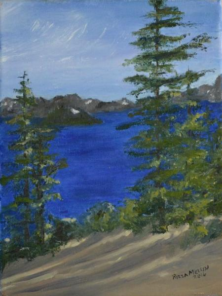 *Bluer than Blue: Crater Lake 9x12
