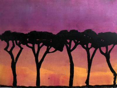 Evening, Rome (Parasol Pines in Rome) sold