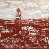 Siena Rooftops (light sky)