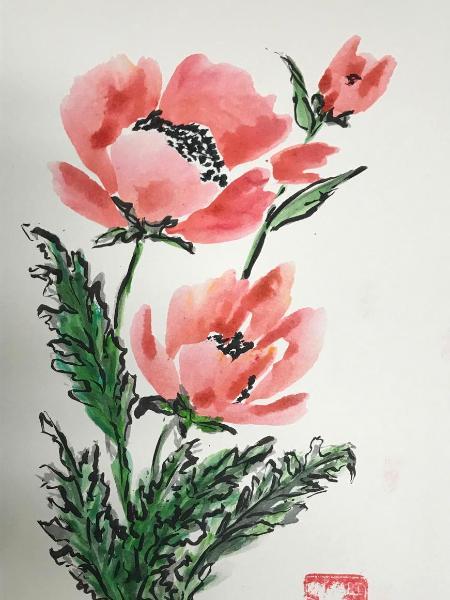 """16x12"""" Poppies"""