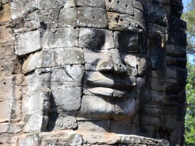 Face, Banyon Temple, Angkor Thom, Cambodia