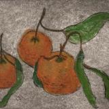 Garden Series: Tori's Oranges  drypoint