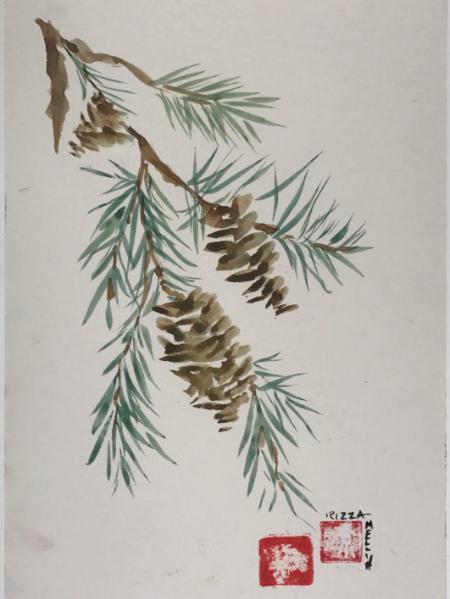 """Spruce Branch (sold) 16x20"""""""