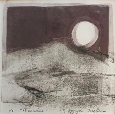 Heat Wave/ Moon overPilot Mountain