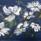 *Dogwood branch (four-color reduction print)