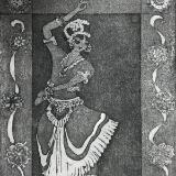 X: Indian Bharatanatyam Dancer with Paisley border
