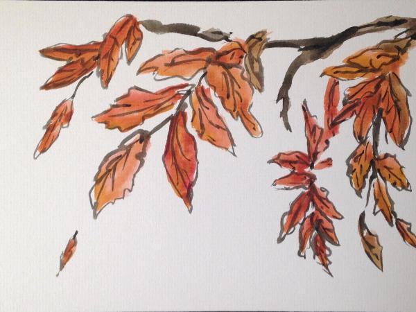 """12x16"""" Autumn Leaves/Autumn"""