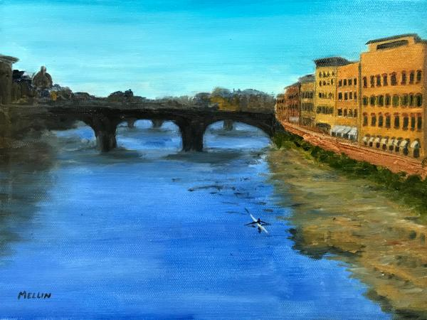 Single Scull on the River Arno (Florence, Italy)