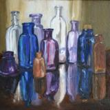 "Bottles/Reflections 9""x12""(sold)"