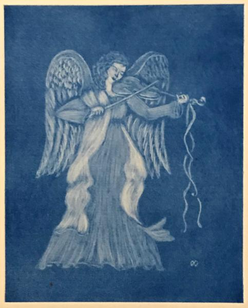 Angel with Violin (blue)