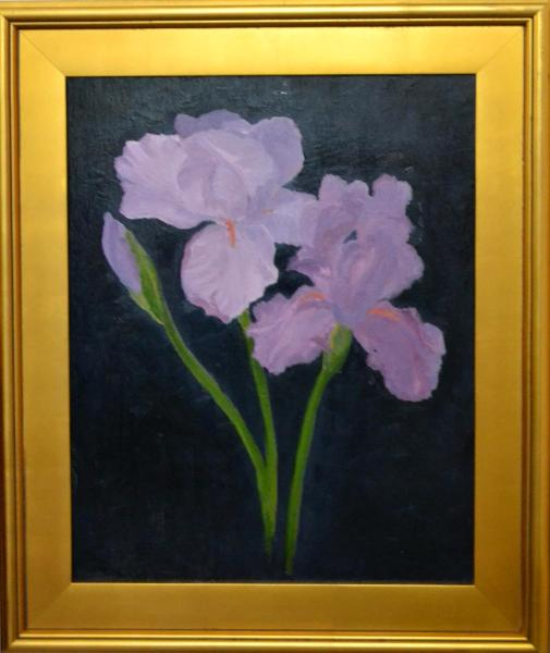 "Purple Irises 20""x16"" (sold)"