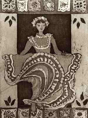 9 Ladies Dancing: Mexican folk Dancer