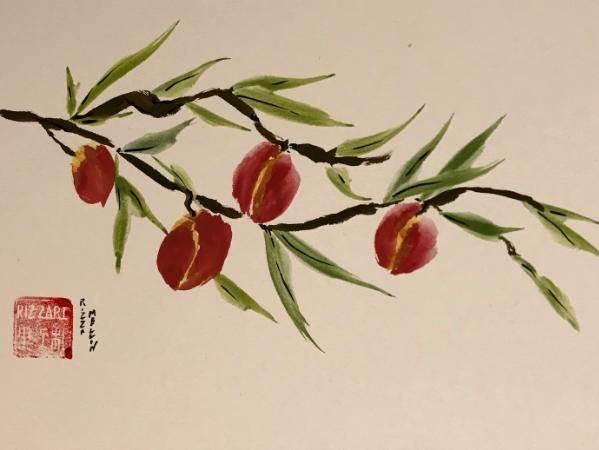 peaches 12x16, available through Artfolios
