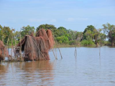 Fishing Net Drying (Cambodia)