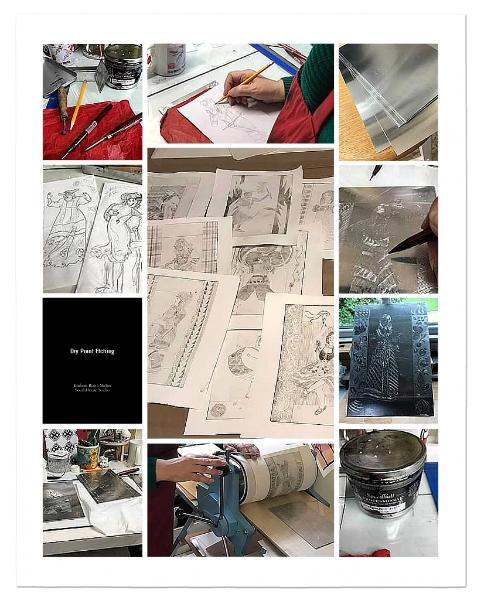How to Dry Point Etching  poster