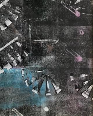 Festival, monotype 11x14
