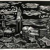 Siena Rooftops lino
