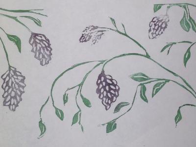 *First Fruit linocut