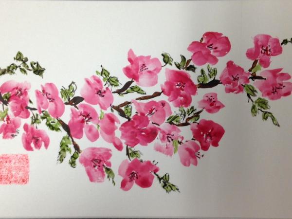 "12x16"" Cherry Blossoms, available through Artfolios"