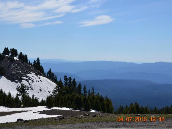 Crater Lake Mountains Blue