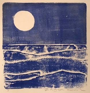 Summer Sea monoprint