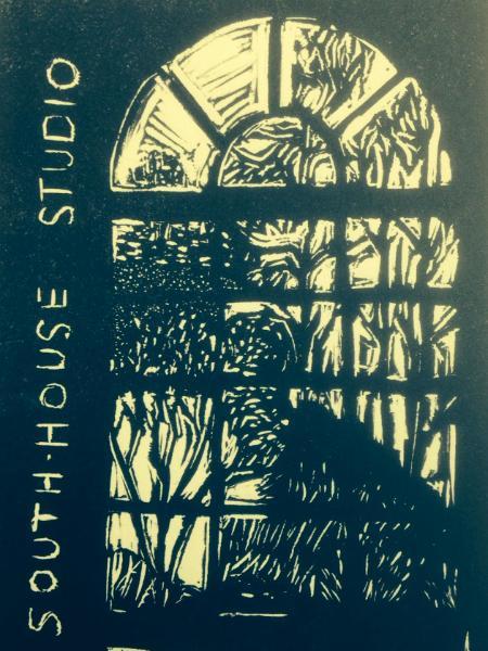 *Studio Window/   Logo  linocut