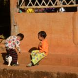 Hill Tribe Boys (with cat), Thailand