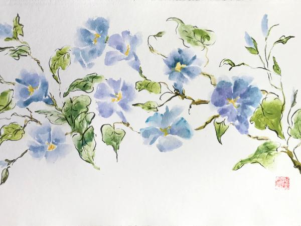 "24x36""Morning Glories"