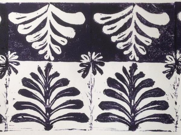 Catlett: Tree of Life print  lino-cut