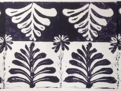 Catlett: Tree of Life print  lino-cut
