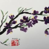 "12x16"" Purple Blossom"
